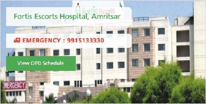 Fortis Escorts Hospitals, Amritsar