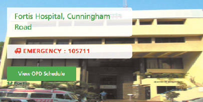 Fortis Hospital Cunningham Road,