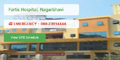 Fortis Hospital, Nagarbhavi