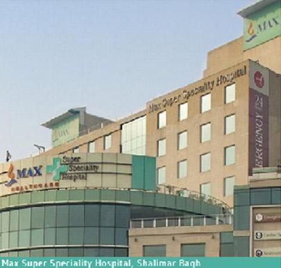 Max Super Specialty Hospital, Shalimar Bagh